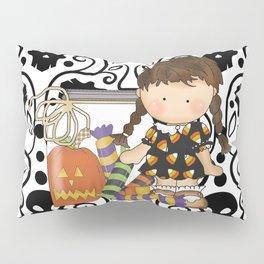 Halloween Skull Girl Pillow Sham