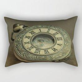 Golden pocket watch Rectangular Pillow