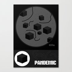 Pandemic - Black Canvas Print