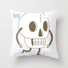 As I Skate through the Valley of Death Throw Pillow