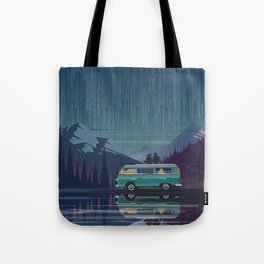 Retro Camping under the stars Tote Bag