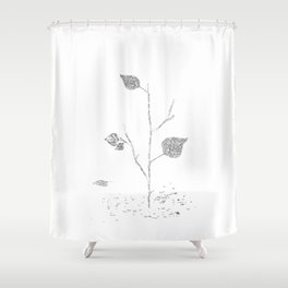 Fall...ing in silence Shower Curtain