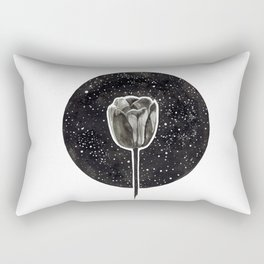 Black Tulip Rectangular Pillow