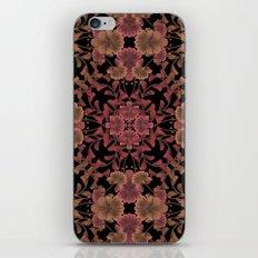 Brown red ornament. iPhone & iPod Skin