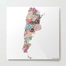 Argentina map Metal Print