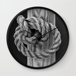 Knot A Rope Knot Wall Clock