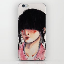 Girl with the Fringe iPhone Skin