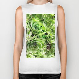 GREEN HENS N' CHICKS SEDUMS-SUCCULENTS Biker Tank