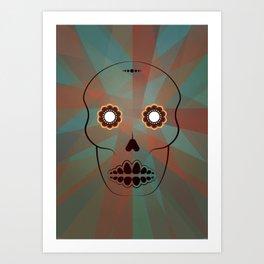 Mexican sugar skull Art Print