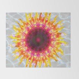 sunflower happiness Throw Blanket