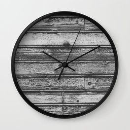 Weathered Wood Wall Wall Clock