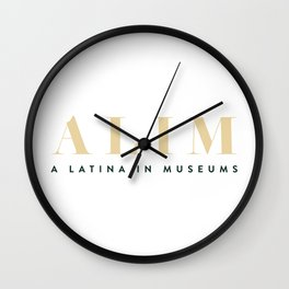 ALIM - A Latina in Museums Wall Clock
