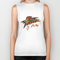 street fighter Biker Tanks featuring street fighter I am by Hisham Al Riyami