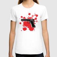 guns T-shirts featuring Guns Kill by DaceDesigns