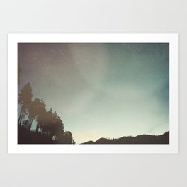 Nights when you're not here Art Print