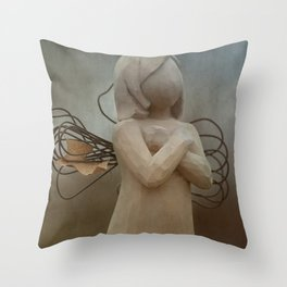 Leaf Wings Throw Pillow