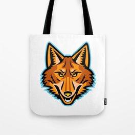 Coyote Head Front Mascot Tote Bag