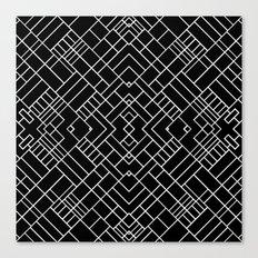 PS Grid 45 Black Canvas Print