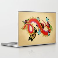 dragon ball Laptop & iPad Skins featuring dragon  by mark ashkenazi
