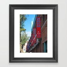 Red Sox - 2013 World Series Champions!  Fenway Park Framed Art Print