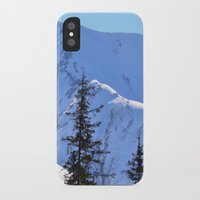 skiing iPhone & iPod Cases featuring Back-Country Skiing  - V by Alaskan Momma Bear