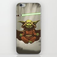 yoda iPhone & iPod Skins featuring Yoda by Marc Vuletich