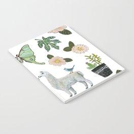 Llama and Luna Moth Notebook