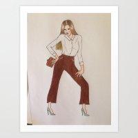 Super fashion illustration Art Print