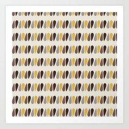 Pattern black brawn yellow Art Print