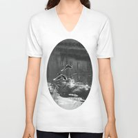 ducks V-neck T-shirts featuring Ducks by Rose Etiennette