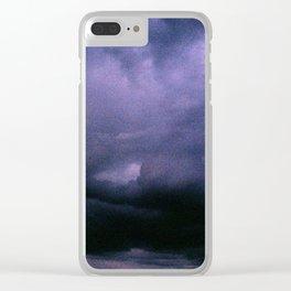 Dark Clouds Clear iPhone Case