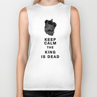 keep calm Biker Tanks featuring Keep calm by lescapricesdefilles