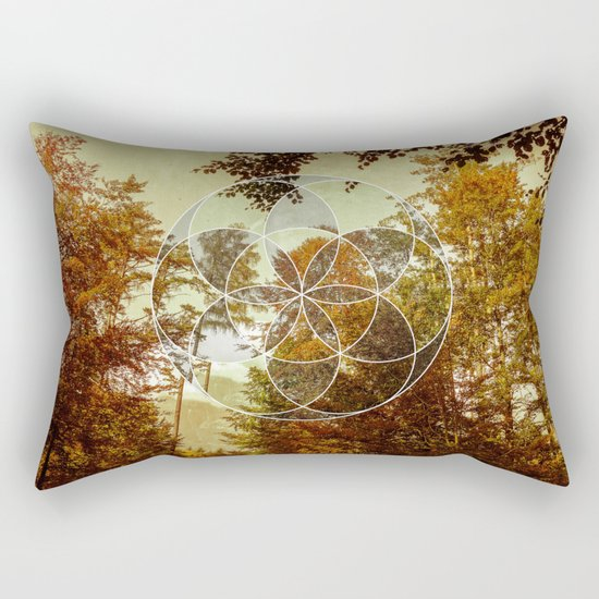 Autumn Meditation Rectangular Pillow