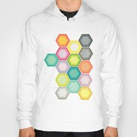 honeycomb Hoodies featuring Honeycomb Layers by Cassia Beck