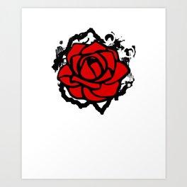 Rose City Antifa RCA Rose Flower Art Print