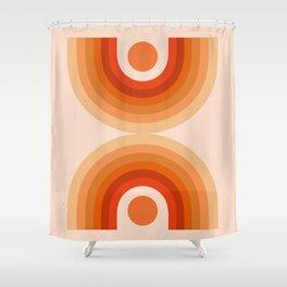 Abstraction_SUN_Rainbow_Minimalism_006 Shower Curtain