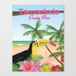 Tamarindo Costa Rica cartoon beach poster. Canvas Print