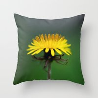 weed Throw Pillows featuring Weed by Katie Kirkland