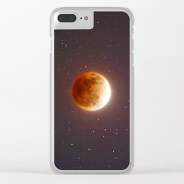 Lunar Eclipse Blood Moon Clear iPhone Case