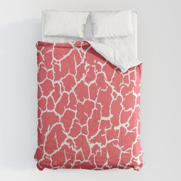 Salmon Pink Cracked Paint Comforters