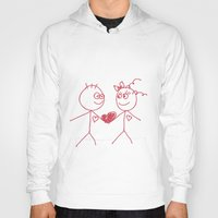 couple Hoodies featuring couple by lisenok