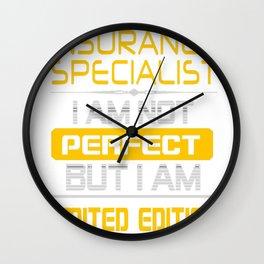 INSURANCE-SPECIALIST Wall Clock