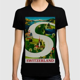 Vintage Switzerland Travel T-shirt
