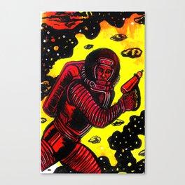 Retro Rocketman Canvas Print