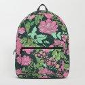 Pink repeating flower pattern by julieluke