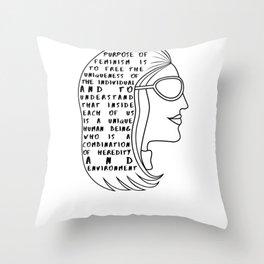 Gloria Steinem Feminist Quote Throw Pillow