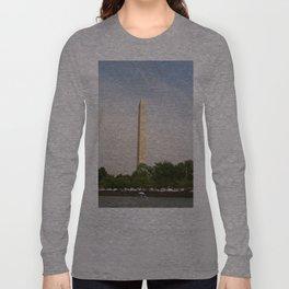 Paddling Up to the Washington Monument Long Sleeve T-shirt