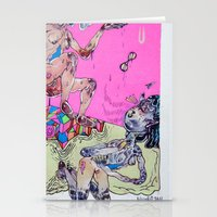 gemini Stationery Cards featuring gemini by Kira Leigh