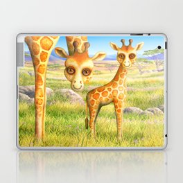 Giraffe and Calf Laptop & iPad Skin