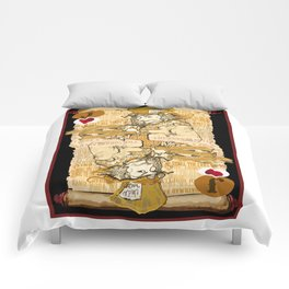 'Mad Hatter' (Alice in Steampunk Series) Comforters